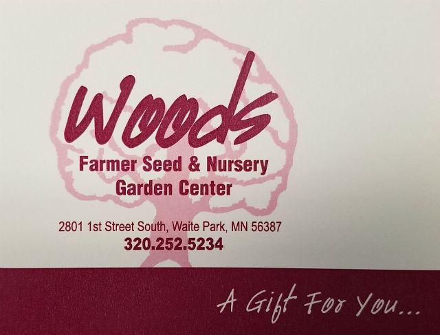 woods gift certificates woods farmer seed nursery